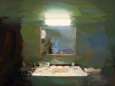 """Saatchi Online Artist: Carlos San Millan; Oil, Painting """"Mirror"""""""