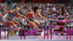 Tomic, Kimura and Okou compete in the women's 100m Hurdles heat #Olympics Olympics