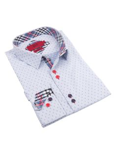 Spread Collar Cotton Shirt from Sunday Style for Boys: Suits