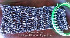 Knitting With Looms: ♥LLKW♥  Dressy Infinity Scarf (Work In Progress)