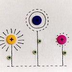 embroidered flower artwork