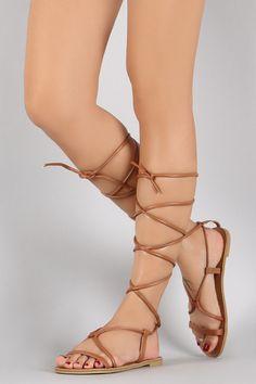5efa71493a3cbb Qupid Strappy Gladiator Open Toe Flat Sandal Gladiator Shoes