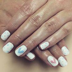 Αποτέλεσμα εικόνας για gender reveal manicure