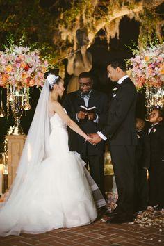 evening ceremony | Dark Roux #wedding