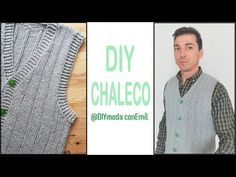 Cómo tejer chaleco de hombre a dos agujas paso a paso - YouTube Crochet Coat, Crochet Baby, Knitting, Youtube, Diy, Ideas, Wool Vest, Crochet Dresses, Scarves