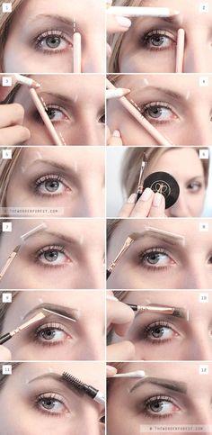 My New Perfect Brow Routine: Eyebrow Tutorial – Wonder Forest – Best Eyebrows Eyeliner, Eyebrow Makeup, Hair Makeup, False Eyebrows, Shape Eyebrows, Makeup Eyebrows, Eye Brows, Pluck Eyebrows, How To Do Eyebrows