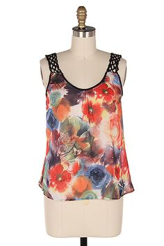 Poppy Chiffon Top | Awesome Selection of Chic Fashion Jewelry | Emma Stine Limited