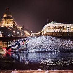 Ice wake. http://win.gs/ZdmYkV #redbull #wakeboarding #WOWsportandleisure