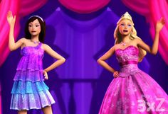 Brunette Keira with Tori in To Be A Princess/To Be A Popstar