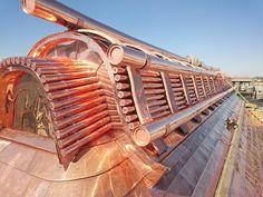 Gargoyle Rain Spout Copper Roof Scupper Pictured Here