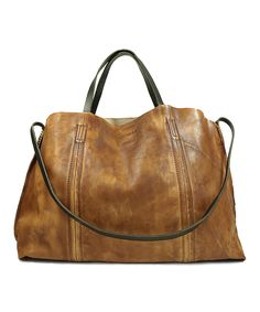 Loving this Chestnut Forest Island Leather Tote on #zulily! #zulilyfinds