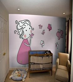 Let your lil' girl feel the excitement of being surrounded with an adorable pink-themed wall decor in her #nursery room!