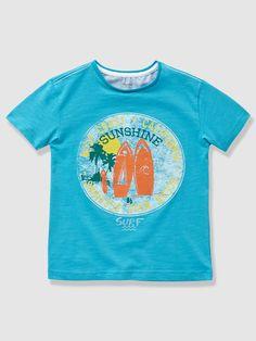32e3d090e Surfez sur le style avec ce T-shirt inspiré par l ambiance Floride.  Collection Printemps-Eté - www.vertbaudet.fr