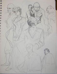 Adam Hughes Sketch of the League of Extraordinary Gentlemen. I wish my sketches looked this nice.