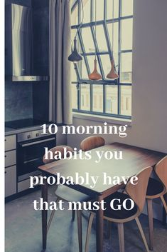 Dive into some morning habits that you may have that is standing in between you and accomplishing your goals and dreams in life! Set up a Positive morning routine with positive habits! #girlboss #morningroutine