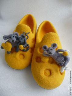 Обувь ручной работы. Ярмарка Мастеров - ручная работа. Купить Счастье-есть-2. Handmade. Желтый, счастье, мышки