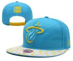2eac2226c8 Casquette NBA Miami Heat Snapback Bleu Jaune Star Casquette New Era Pas  Cher Casquette New Era