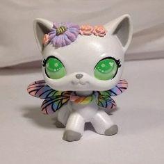 HobbyMomCustoms Littlest pet shop Cat  * Dragonfly Kitty * Custom Hand Painted LPS OOAK #Hasbro