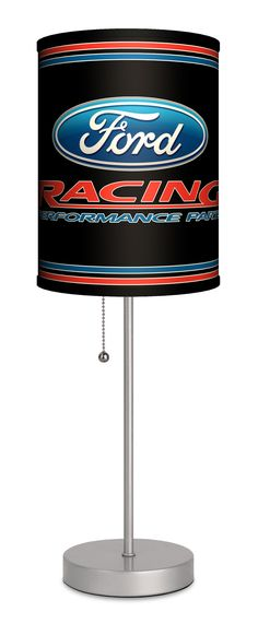 """Ford Racing 20"""" H Table Lamp with Drum Shade"""