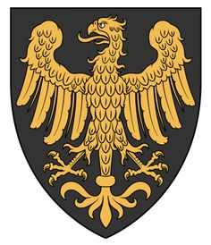 Germania - WappenWiki Kingdom Of Sweden, Golden Eagle, Wolf Howling, Family Crest, Coat Of Arms, Architecture Art, Herb, Knight, Flag