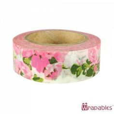 Pink flower garden washi tape.  Get it here: http://washikawaii.com/shop/wrapables-floral-nature-japanese-washi-masking-tape-pink-flower-garden/