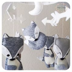 Baby Mobile  Wolf Baby Mobile  Tribal Arrow by PaigeAndPoppy