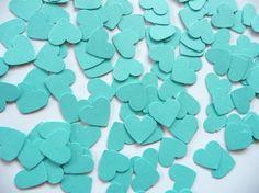 Tiffany blue hearts