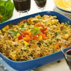 Krämig kycklinggratäng - Mitt kök Chutney, Lchf, Paella, Fried Rice, Entrees, Macaroni And Cheese, Fries, Food And Drink, Ethnic Recipes