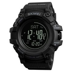 Men's Watches Analytical Sfmei Top Luxury Compass Sports Watches Fashion Pedometer Thermometer Altimeter Barometer Calorie Digital Watch For Men Women Finely Processed Watches