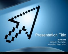Free technology PPT template background with mouse arrow in the master slide