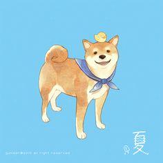 柴犬大好き-Gu✿ Anime Animals, Animals And Pets, Cute Animals, Shiba Inu, Akita, Mini Dogs, Japanese Dogs, Cute Characters, Cat Love