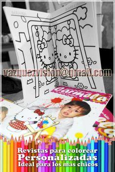 Revistas para Colorear Personalizadas: Entretene a los más chicos con esta solución Gráfica que te ofrecemos!! Tel: 63805857 Cel.: 15-3575-7215 Email: vazquezvision@gma... Visitanos: VAZQUEZVISION