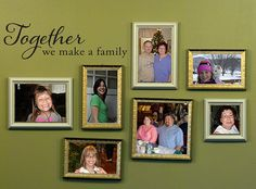 Together we make a Family Wall Decal - Family Wall Art - Medium on Etsy, $14.00