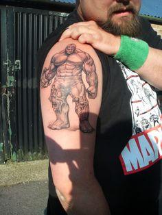This is bada$$!!!!!  Unique black and white hulk #tattoo www.thetattoofanatic.com
