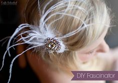 Looking for unique jewelry making ideas? Crafts Unleashed has easy jewelry ideas and tips. From beginners to advanced, we can help you learn how to make jewelry. Fascinator Hairstyles, Fascinator Headband, Diy Hairstyles, Fascinators, Wedding Crafts, Diy Wedding, Wedding Ideas, Wedding Stuff, Wedding Things