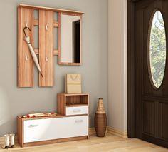 Luna předsíňová stěna švestka/bílá / vestibule furniture