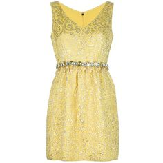 DOLCE & GABBANA sleeveless dress ($2,230) ❤ liked on Polyvore