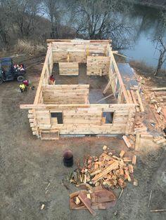3 Bedroom Hunting Cabin Kit | Log Home Kits- Schutt Log Homes ...