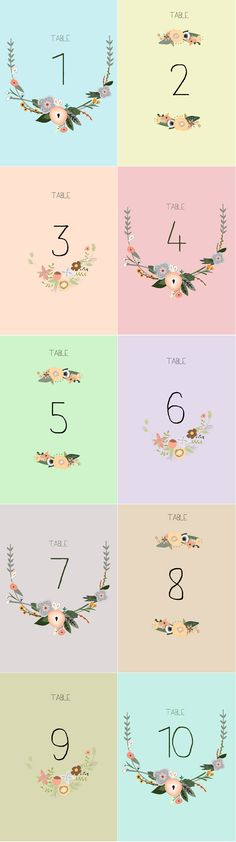 Free printable table numbers can help to alleviate a little bit of wedding planning stress, as well as cutting costs.