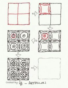 Zentangle+Patterns+ Step+ by+Step