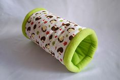 cosy cuddle tunnel / roll for guinea pigs hedgehogs by TheCosyHut Guinea Pig Supplies, Hedgehogs, Guinea Pigs, Cuddle, Cosy, Bae, Handmade Gifts, Rabbits, Kid Craft Gifts