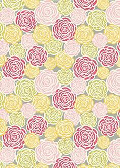 This probably never happens to many other people, but I often get inspiration from figuring out how I am going to wrap a present . . . and before I even know what that particular present will be. Mother's Day is my fave holiday for this reverse gifting philosophy: Rosette Wrapping Paper @Paper Source