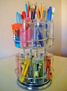 spice rack as homework station - done!