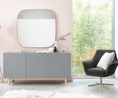 Grey and pink home and living room decor   Maisons du Monde