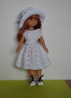 Cat Doll, Knitted Dolls, Girl Dolls, Doll Clothes, Flower Girl Dresses, Pullover, Summer Dresses, Knitting, Wedding Dresses