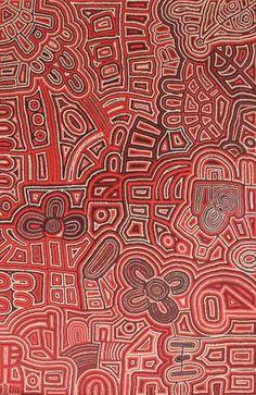 Teresa Pumani Mula Kunkarangkanypa Tjukurpa Acrylic on linen,120 x 80cm Mimili Maku Arts APY Lands. For more Aboriginal art visit us at www.mccullochandmcculloch.com.au #aboriginalart #australianart #contemporaryart