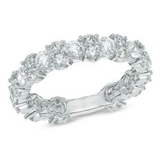 2 CT. T.W. Diamond Eternity Band in 14K White Gold. THIS IS THE BAND I WANT and just wear this every day instead of engagement ring/wedding band