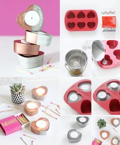 Cement Art, Concrete Crafts, Diy Candle Holders, Diy Candles, Diy Crafts To Do, Creative Crafts, Diy Clay, Clay Crafts, Eco Deco