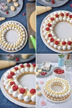Most often on a base of shortbread, whipped cream, fresh fruit and a refined decoration with real flowers. But we can vary the base: sponge cake, biscuit joconde …. Cake Cookies, Cupcake Cakes, Cupcakes, Tire Cake, Alphabet Cake, Cake Lettering, Birthday Cake For Husband, Monogram Cake, Biscuit Cake