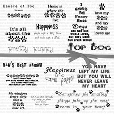 15 motivational quotes about dogs. Download these png quotes to use for creating cards, scrapbooking, planner stickers, etc.